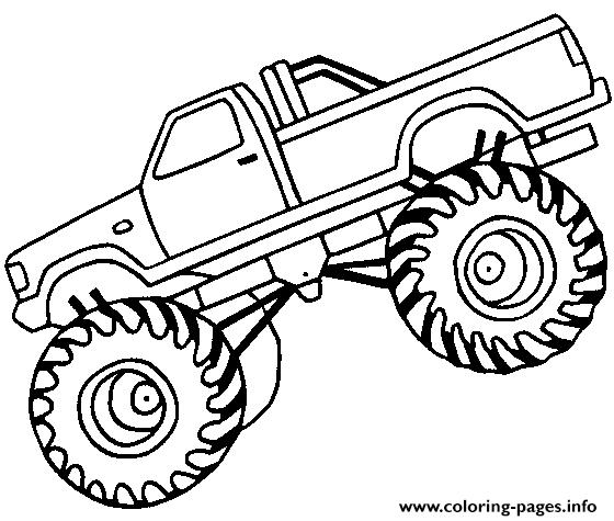 Easy Monster Truck Big coloring pages