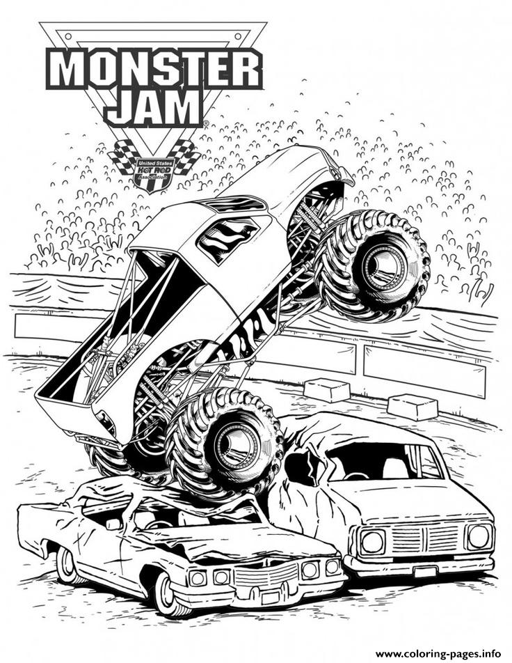 grave digger monster jam truck coloring pages