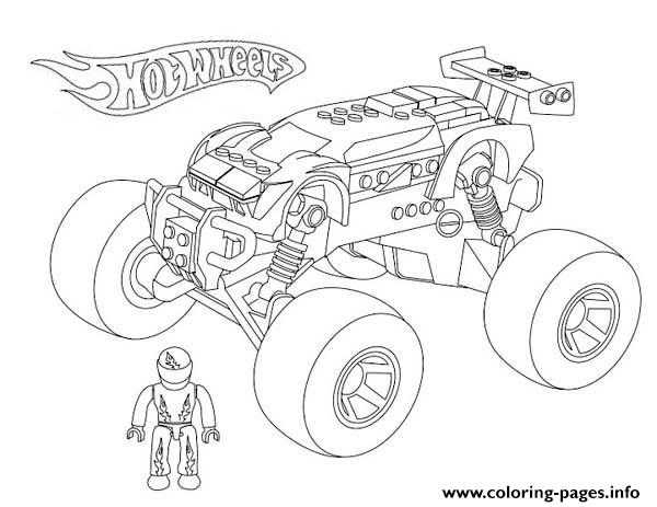 hot wheels monster truck coloring pages - Monster Truck Coloring Page