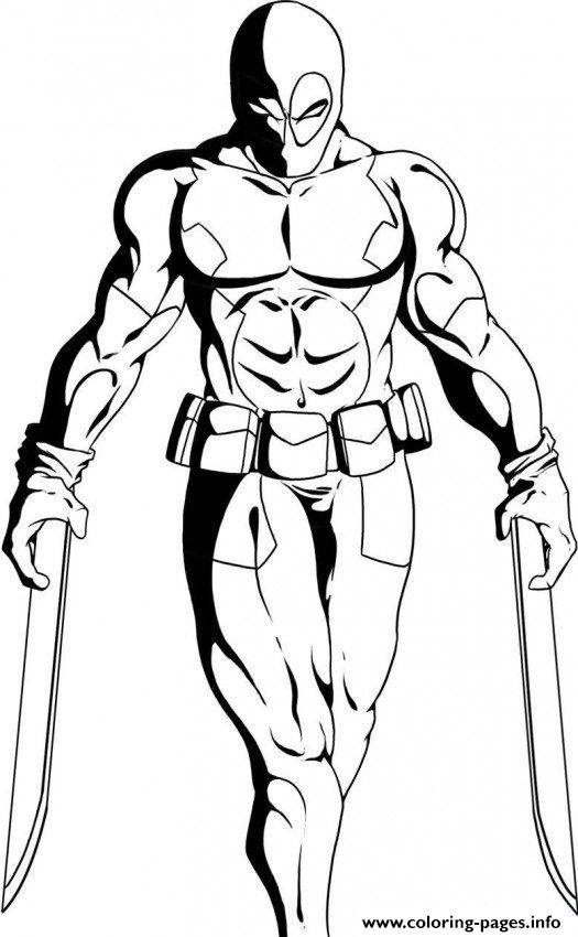 Dc Villain Deathstroke Coloring Pages Print Download