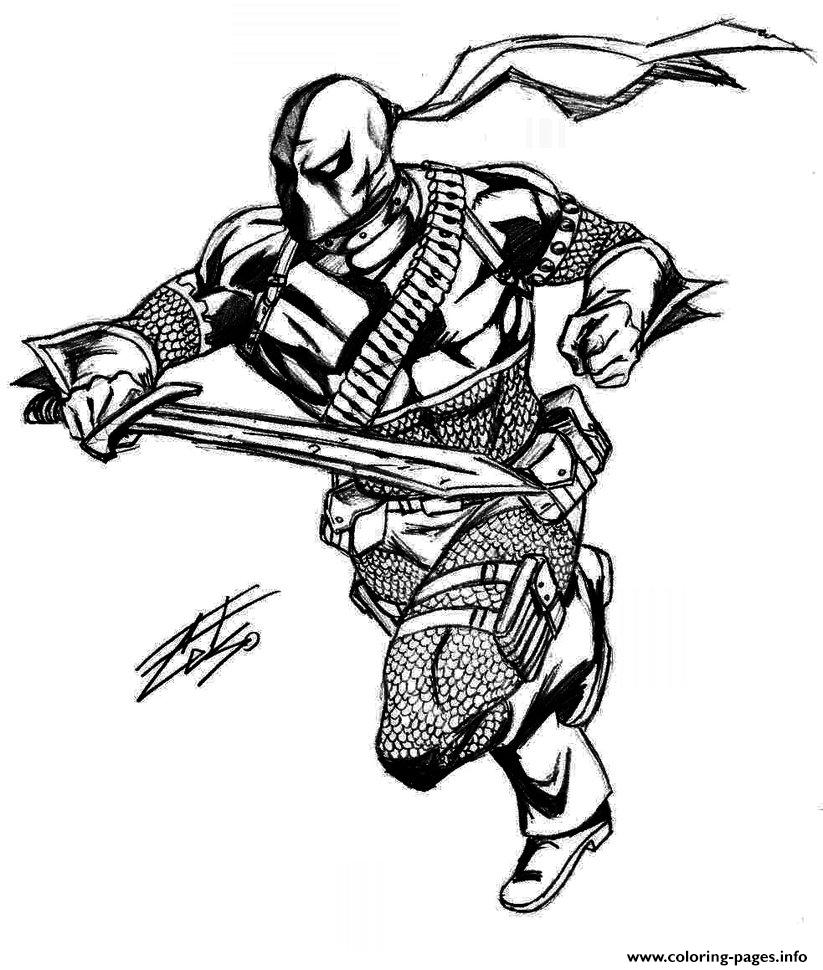 Deathstroke Original Coloring Pages Printable
