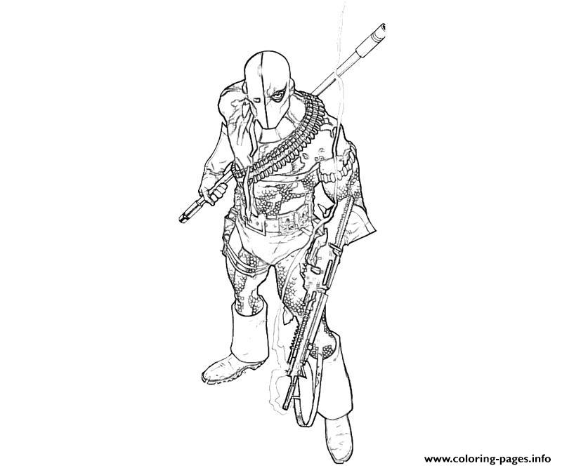 deathstroke coloring pages