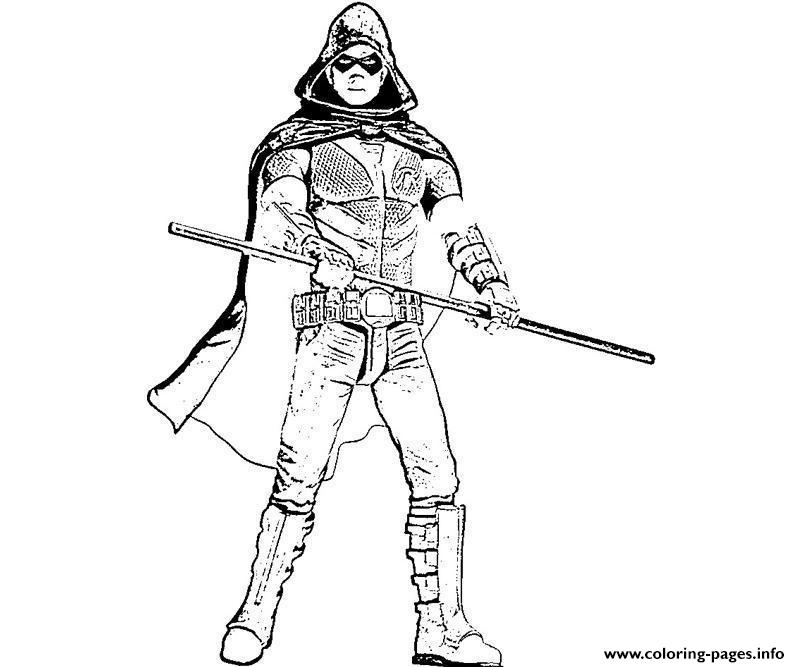 Robin Arkham City Coloring Pages Deathstroke Original