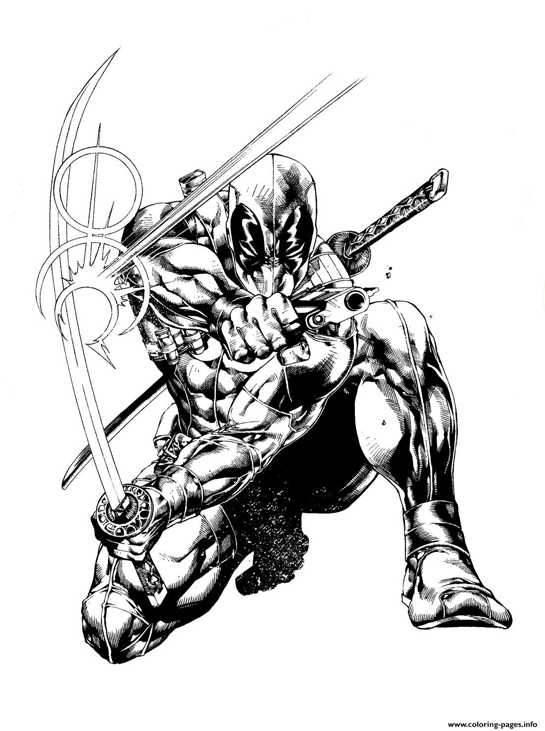 Deadpool Marvel15 coloring pages
