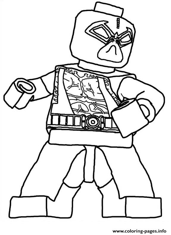 Lego Deadpool Marvel Color Coloring Pages Printable