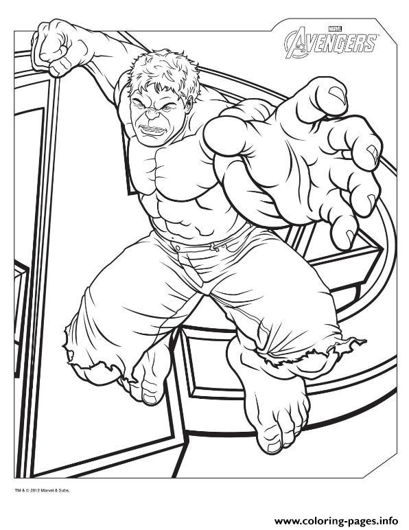 Hulk From The Avengers Marvel Coloring Pages