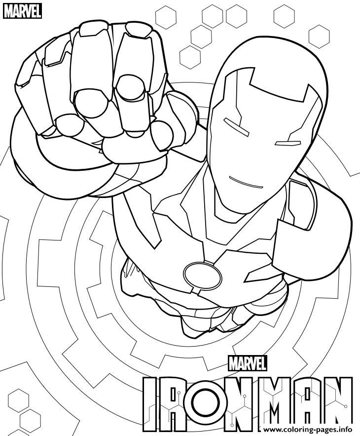 Iron Man From The Avengers Marvel coloring pages