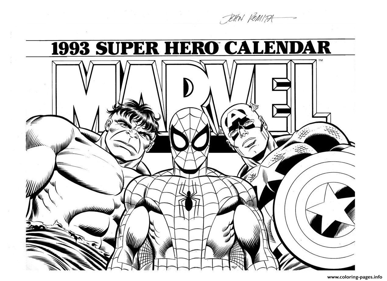 Marvel Super Hero Coloring Pages Printable