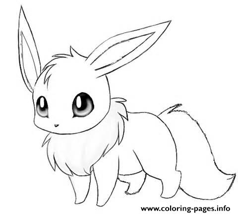 eevee coloring pages printable
