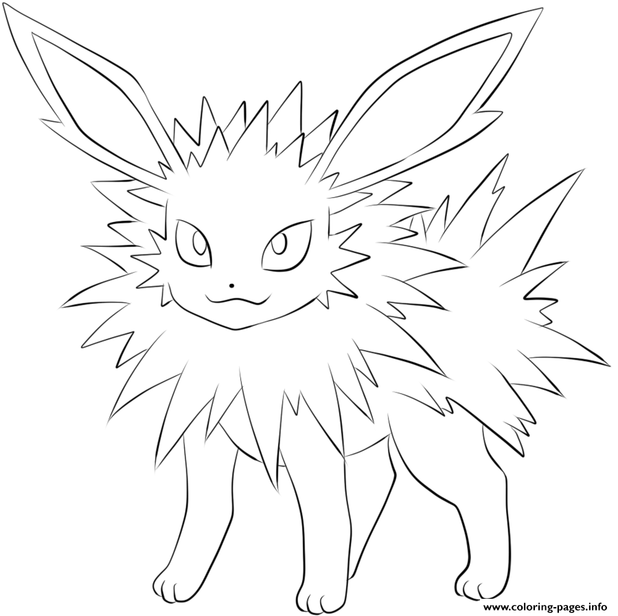 eevee evolutions coloring pages printable - photo#29