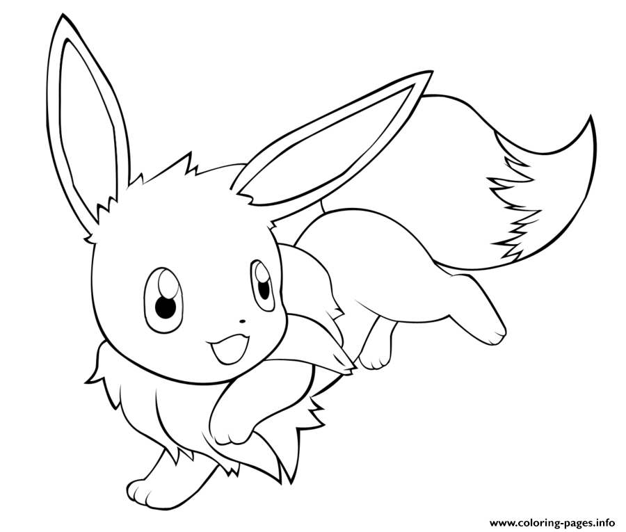 Eevee Coloring Pages To Print Cute Eevee Pokemon Coloring Pages Printable