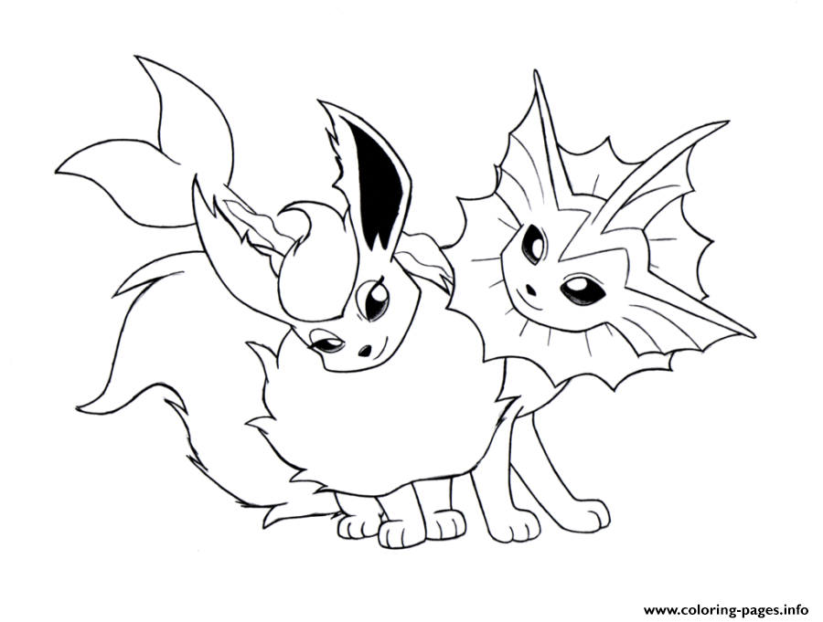 Eevee Evolution 2 Coloring Pages Printable