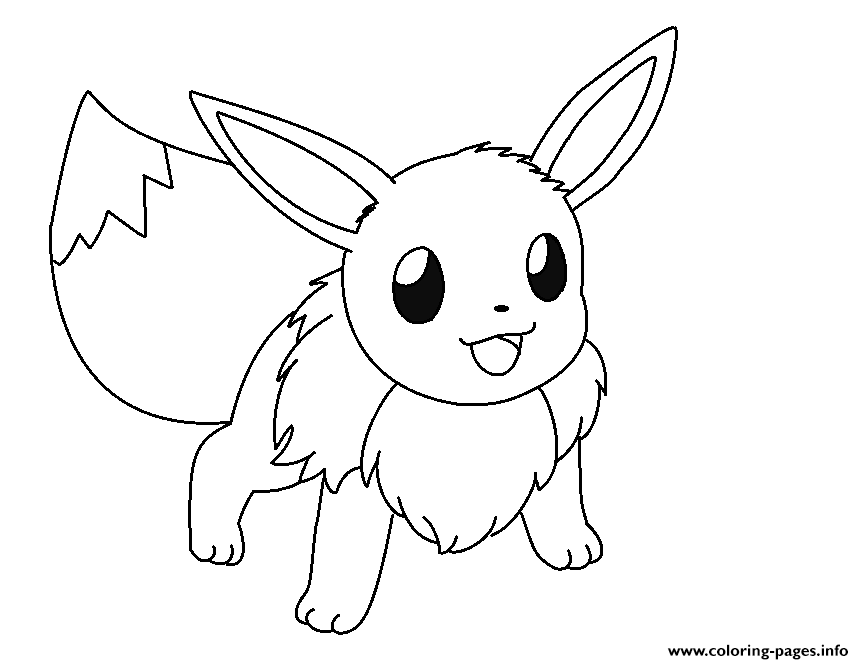 Eevee Color Page Coloring Pages