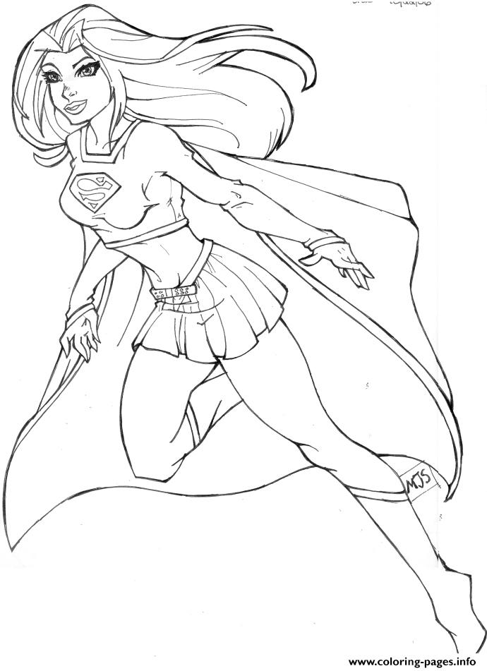 Supergirl 2 Coloring Pages Printable