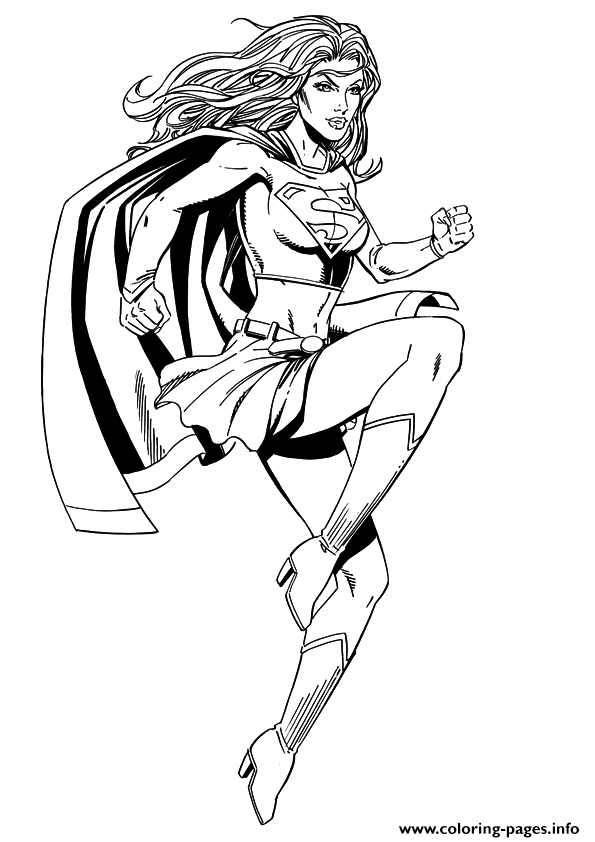 Superwoman Coloring Pages Printable