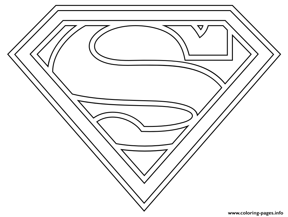 Supergirl Logo Coloring Pages Printable