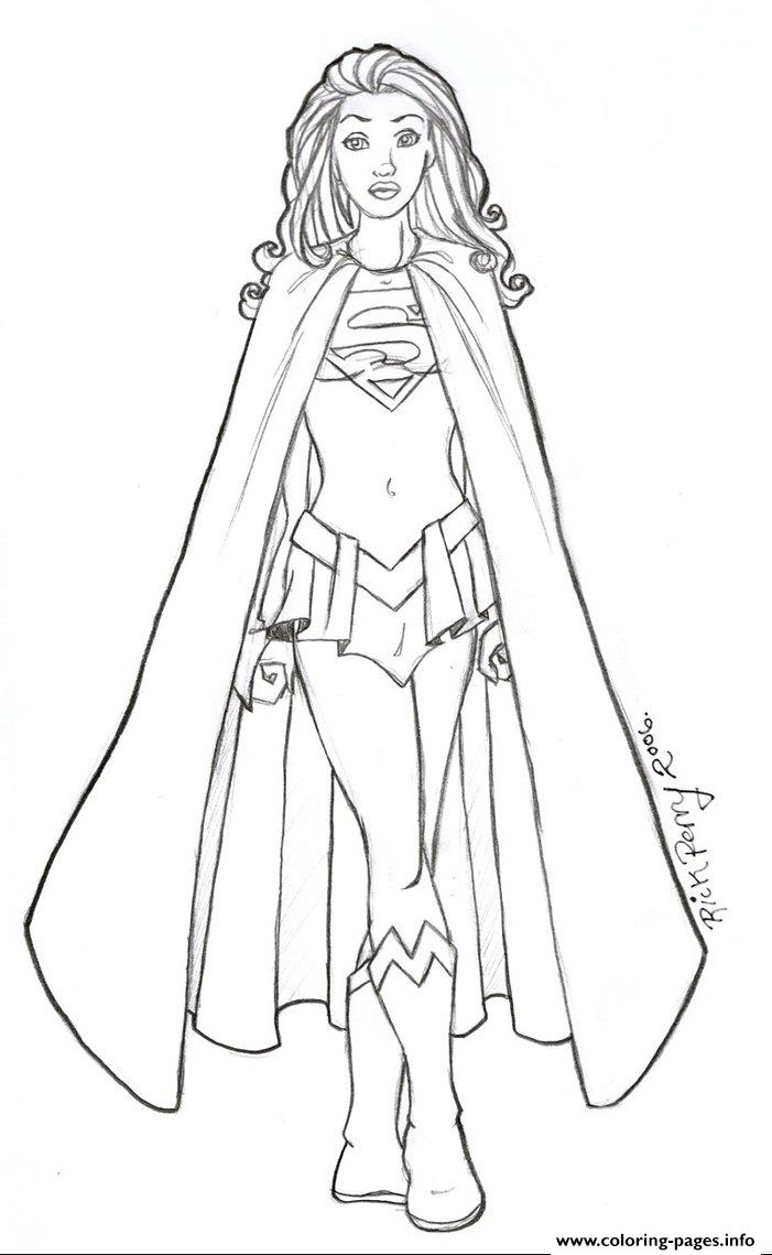 Supergirl 12 coloring pages printable for Supergirl coloring page