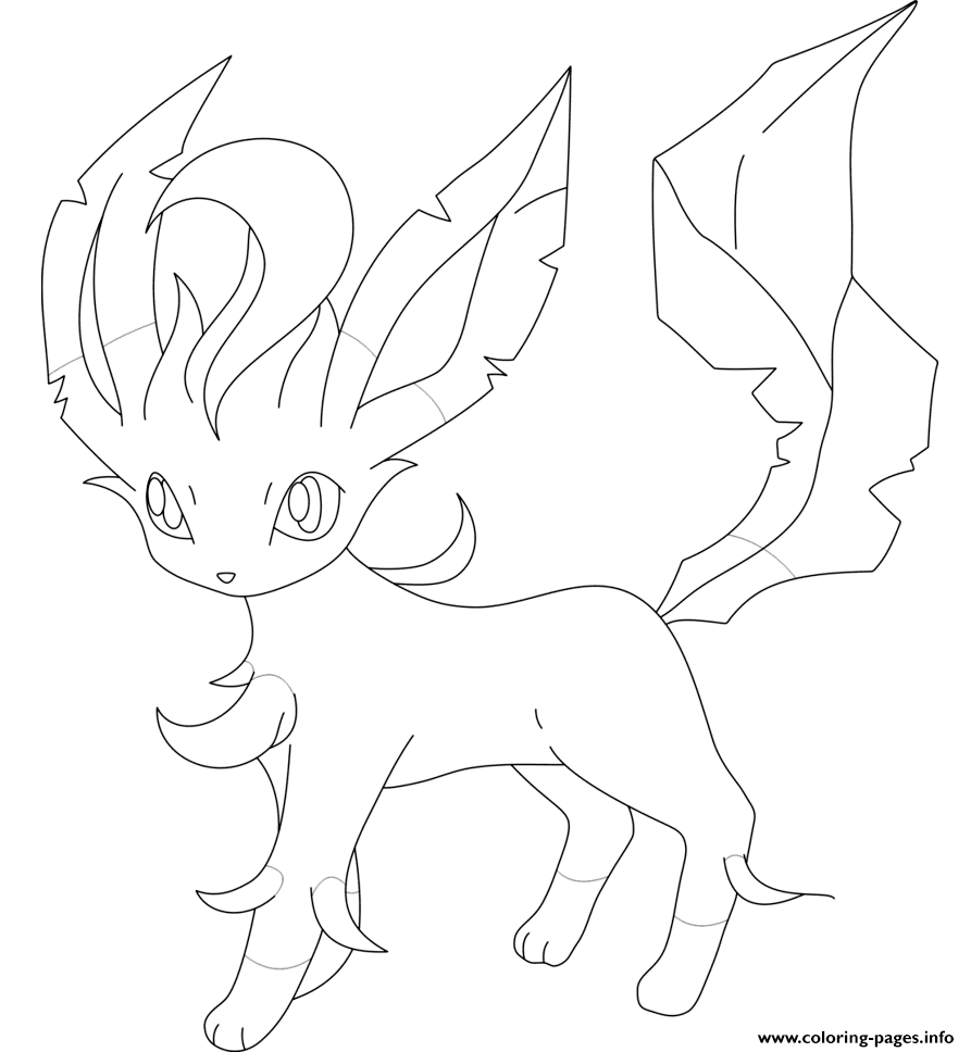 leafeon coloring pages printable