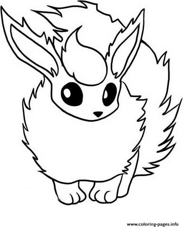 Flareon Eevee Pokemon Evolutions Coloring Pages Printable