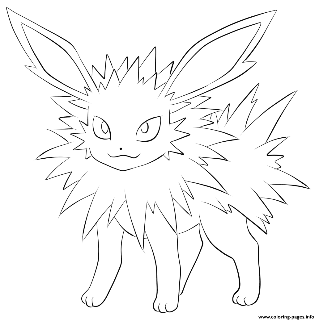 Jolteon Pokemon Coloring Pages