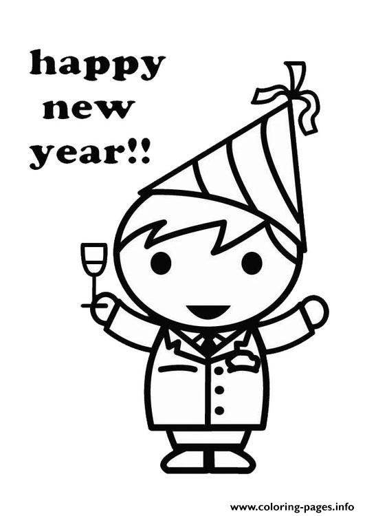 For Kids New Year Celebrate8799 coloring pages
