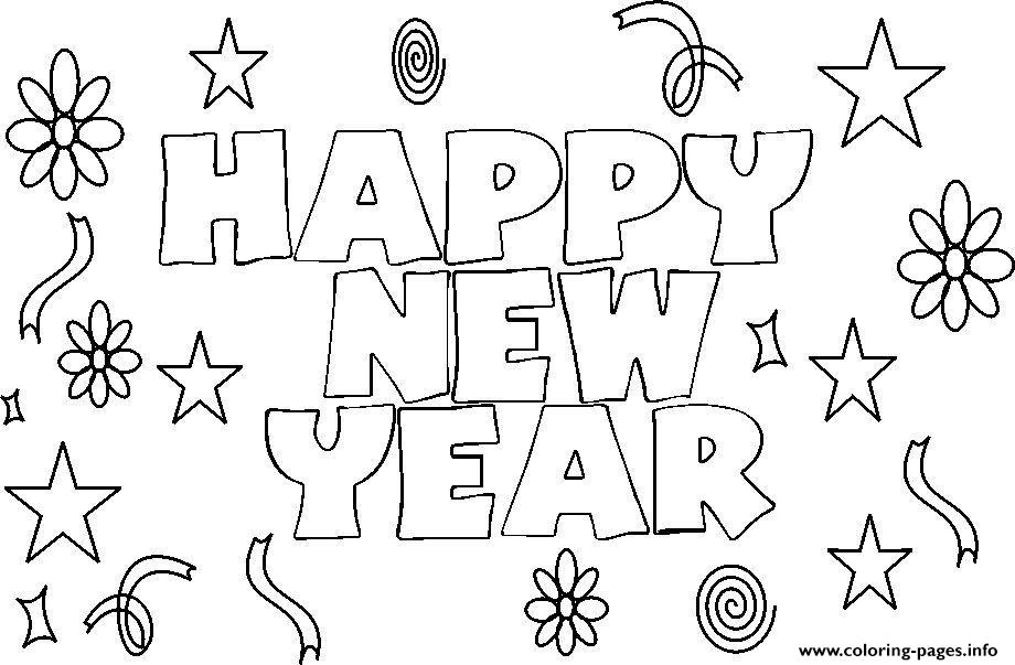 Happy New Year 3 coloring pages