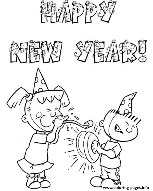 Free New Year 2019 Coloring Pages Printable – Coloring Junction | 750x600
