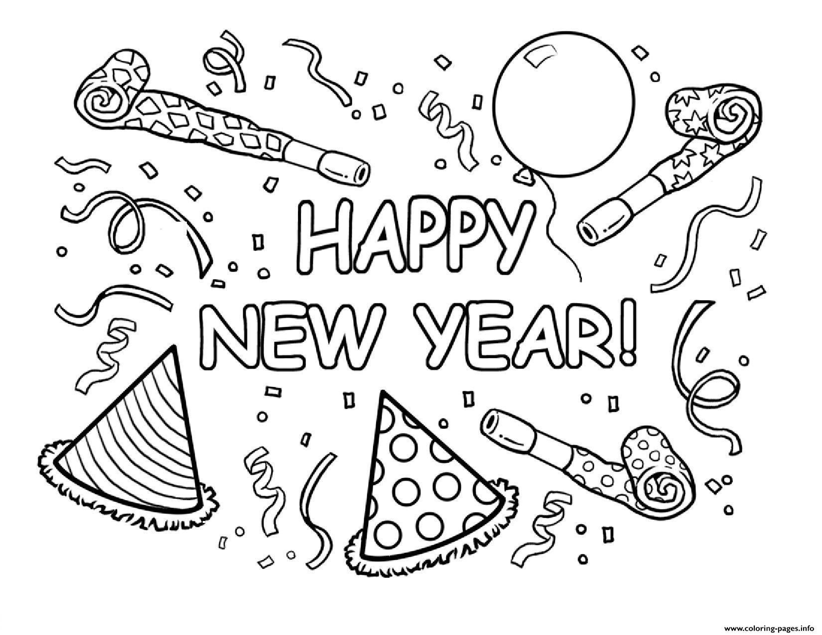 picture regarding Happy New Year Printable called Delighted Fresh new Yr Printable Coloring Webpages Printable