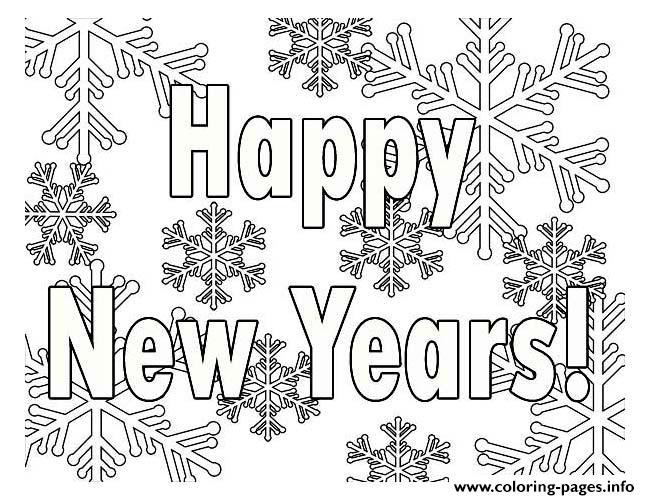 Printable New Years Coloring Pages Printable