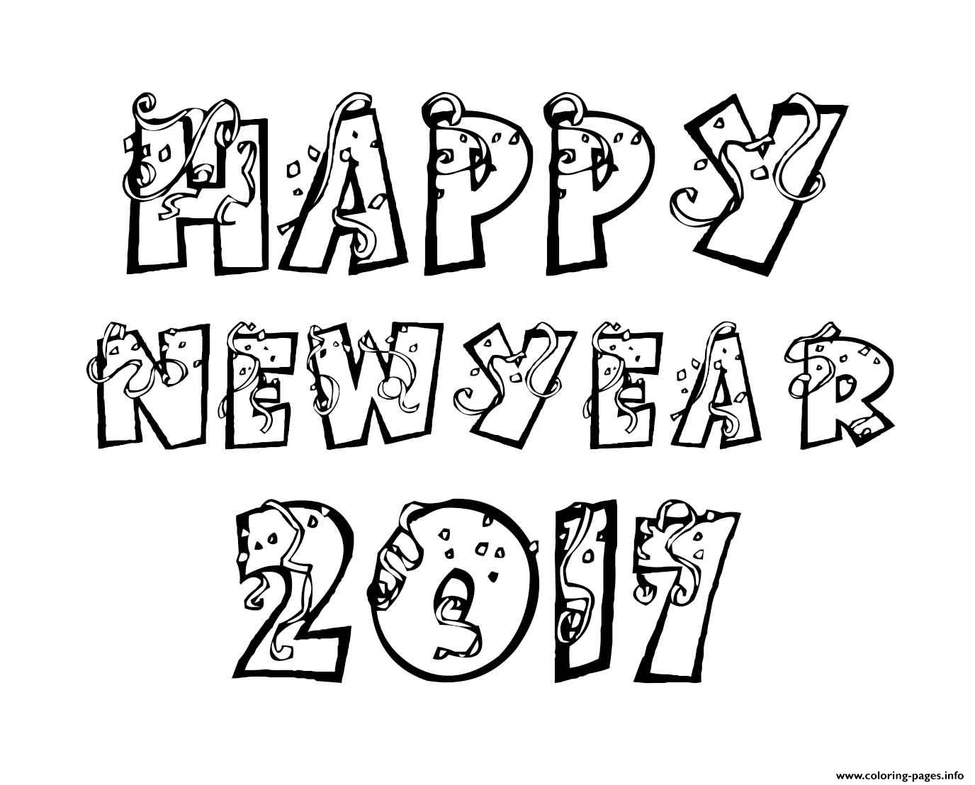 happy new year 2017 coloring pages coloring pages printable