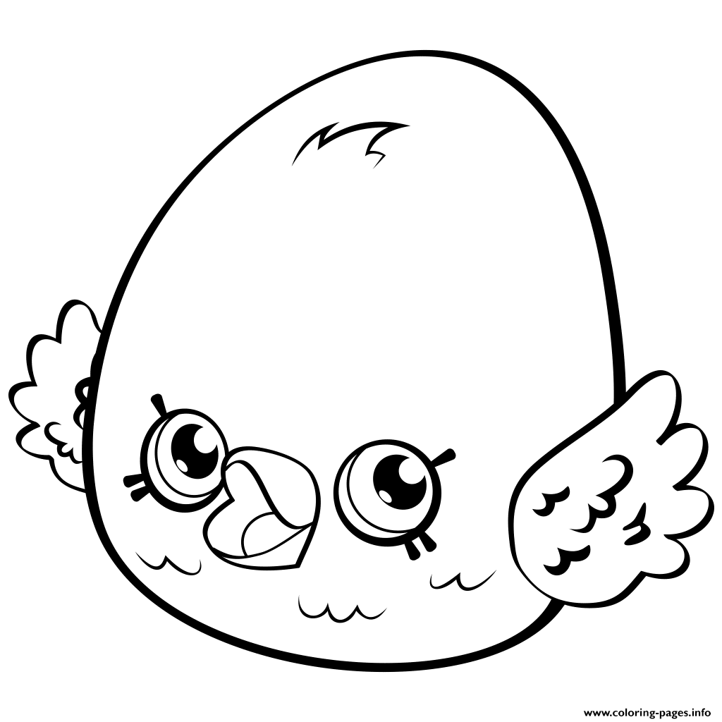 Cute Egg Eggchic Petkins Shopkins Coloring Pages Printable