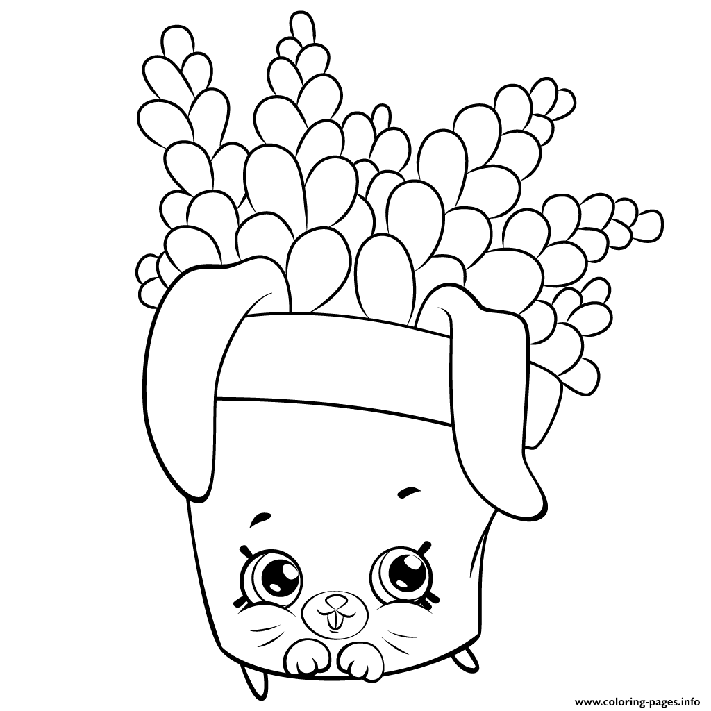 Cute Fern To Color Petkins Shopkins Coloring Pages
