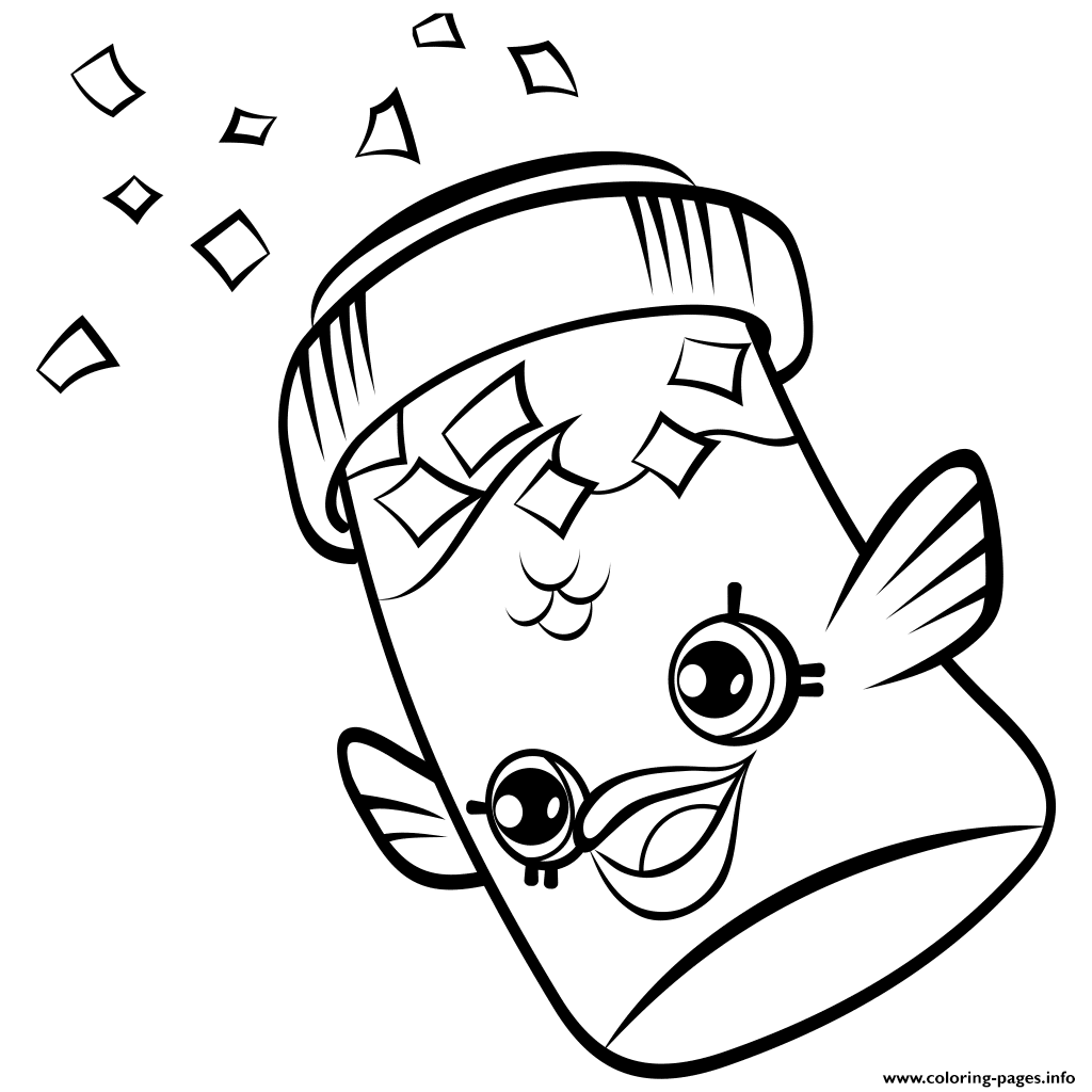 Fish Flake Jake Petkins Shopkins Coloring Pages Printable