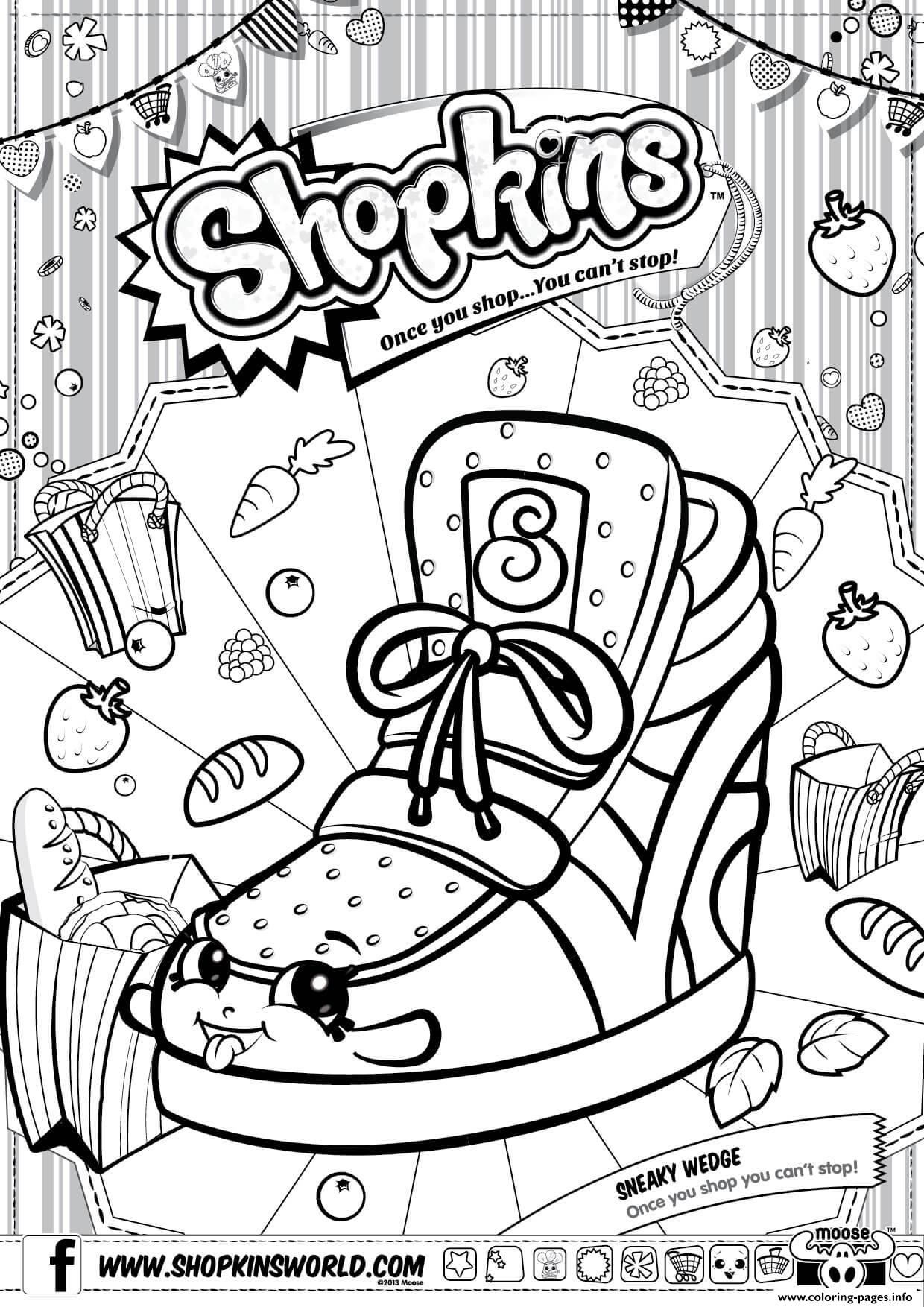 Shopkins Sneaky Wedge Coloring Pages