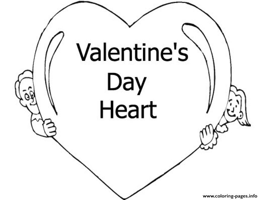 Heart Of Valentine D05b coloring pages