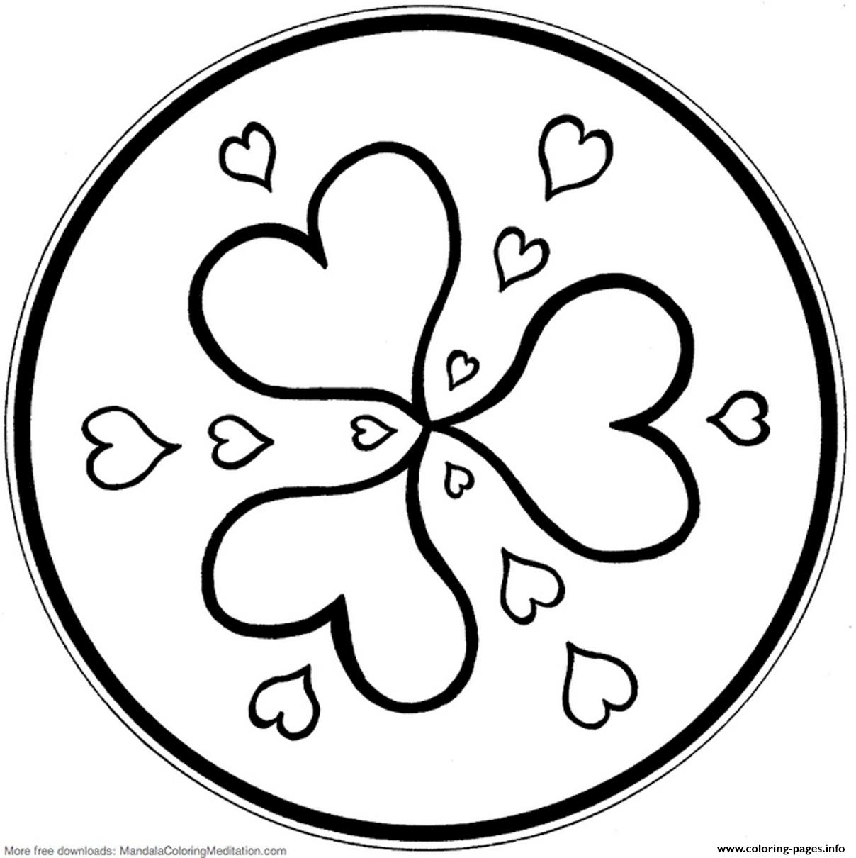Mandala S Hearts9eca coloring pages
