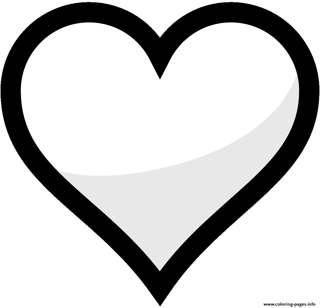 Heart Shape Emoji Coloring Pages Printable