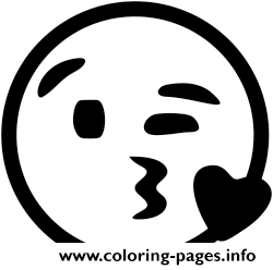 Black And White Heart Emoji coloring pages