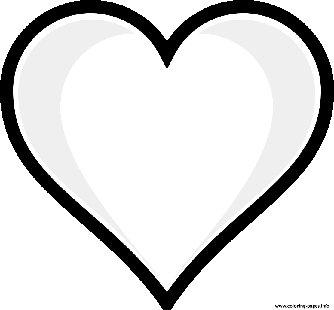 Printable Heart Emoji Coloring
