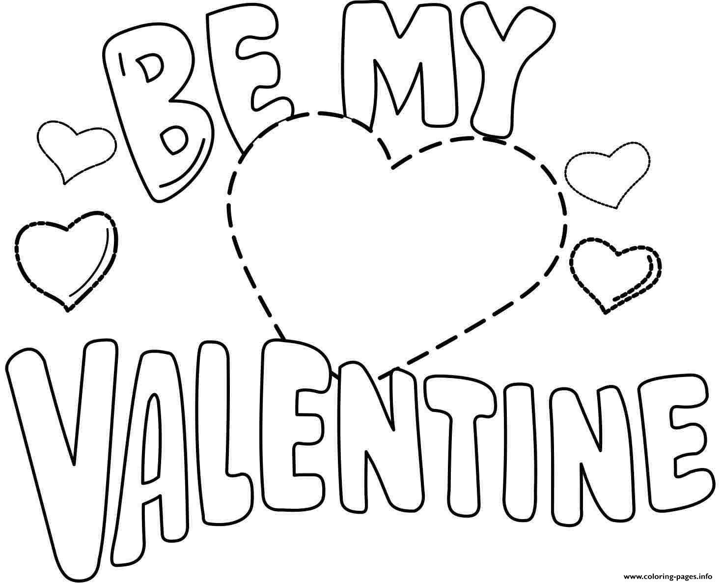 Valentine's Day Printable Coloring Pages Be My Valentine Valentines Day Coloring Pages Printable