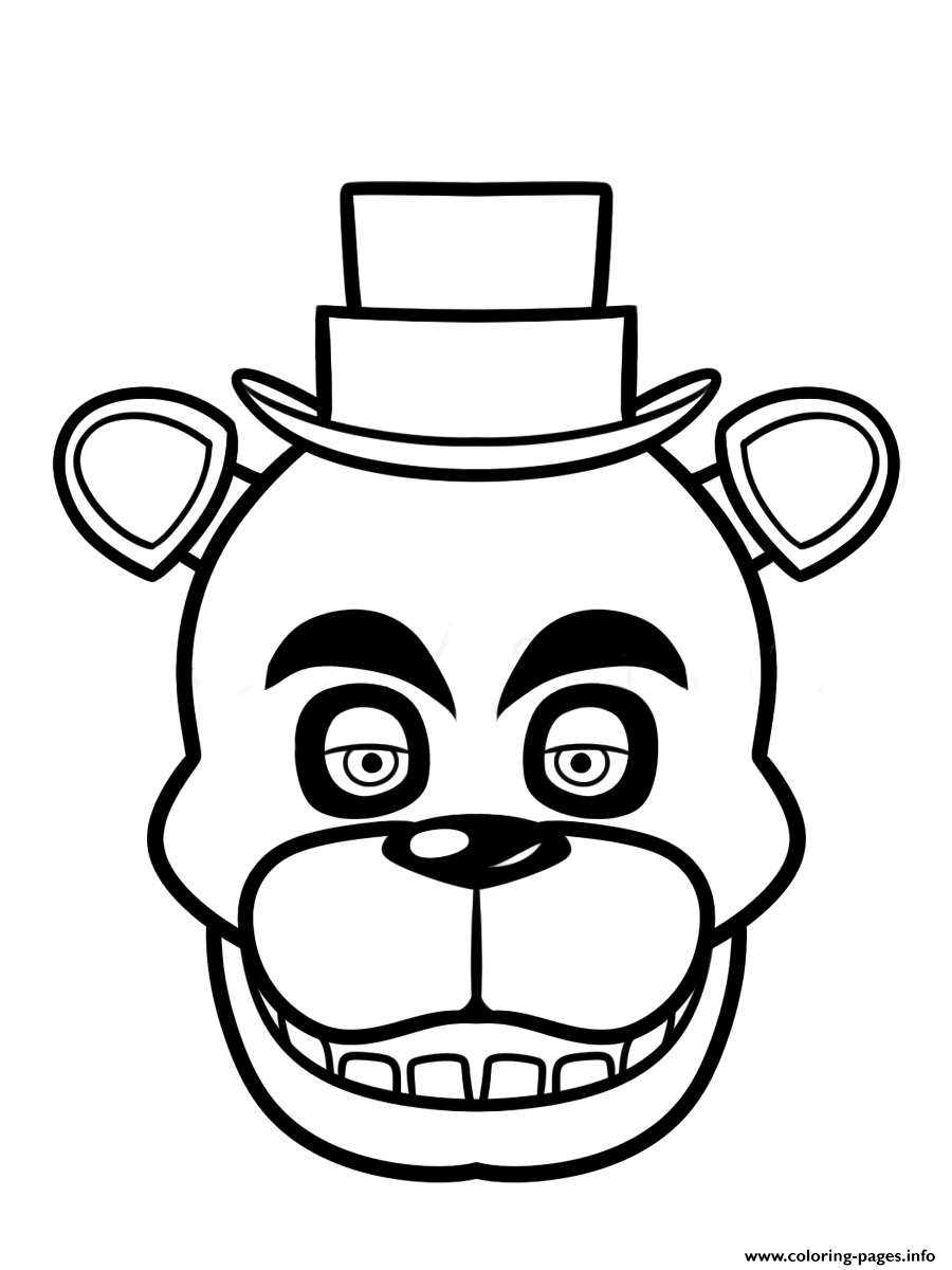 fnaf freddy five nights at freddys face coloring pages printable