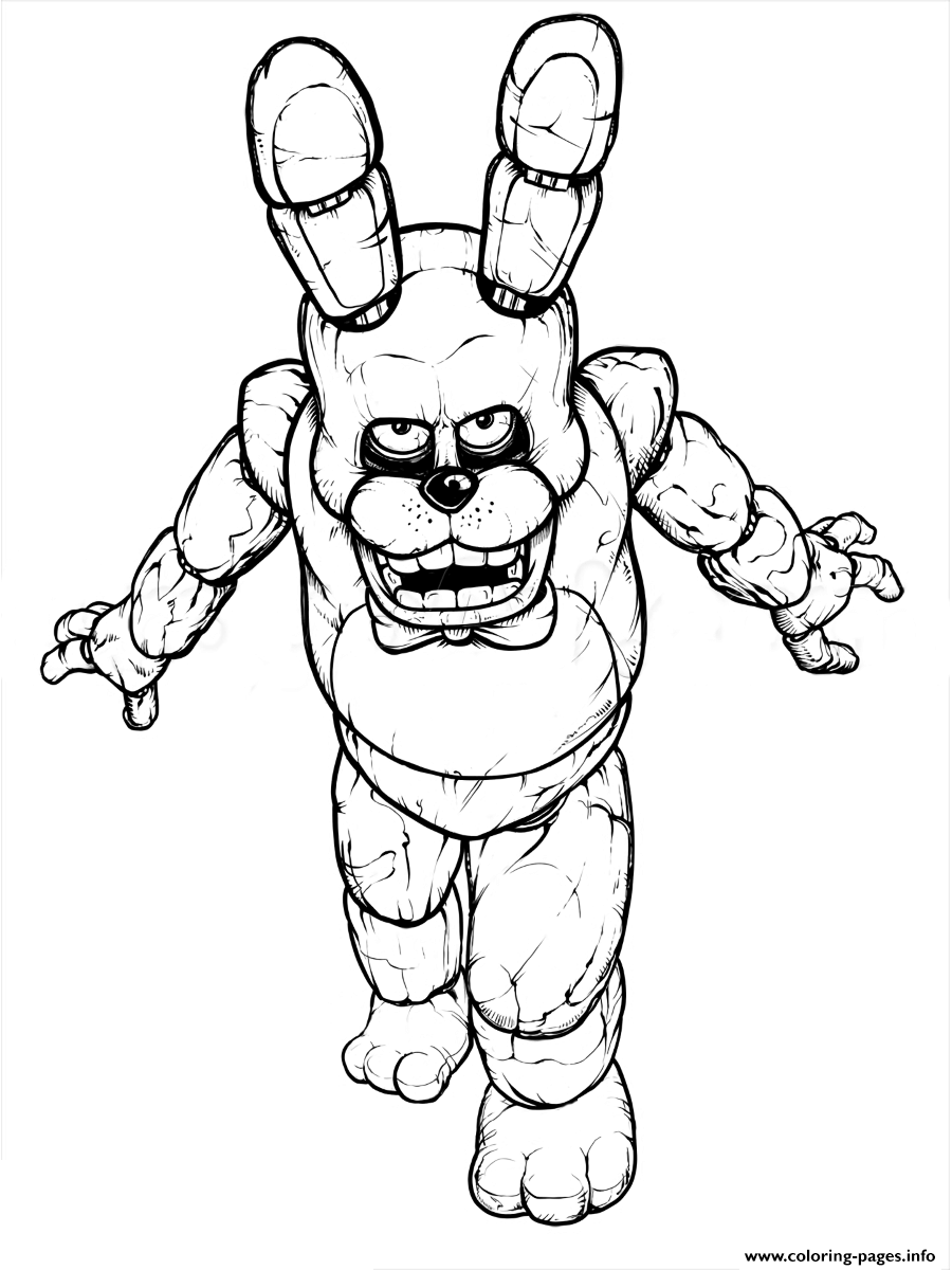 fnaf freddy five nights at freddys free to print coloring pages