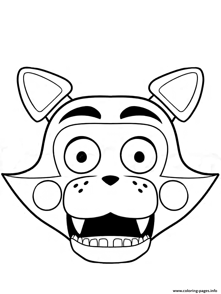 Fnaf freddy five nights at freddys foxy coloring pages for Freddy coloring pages