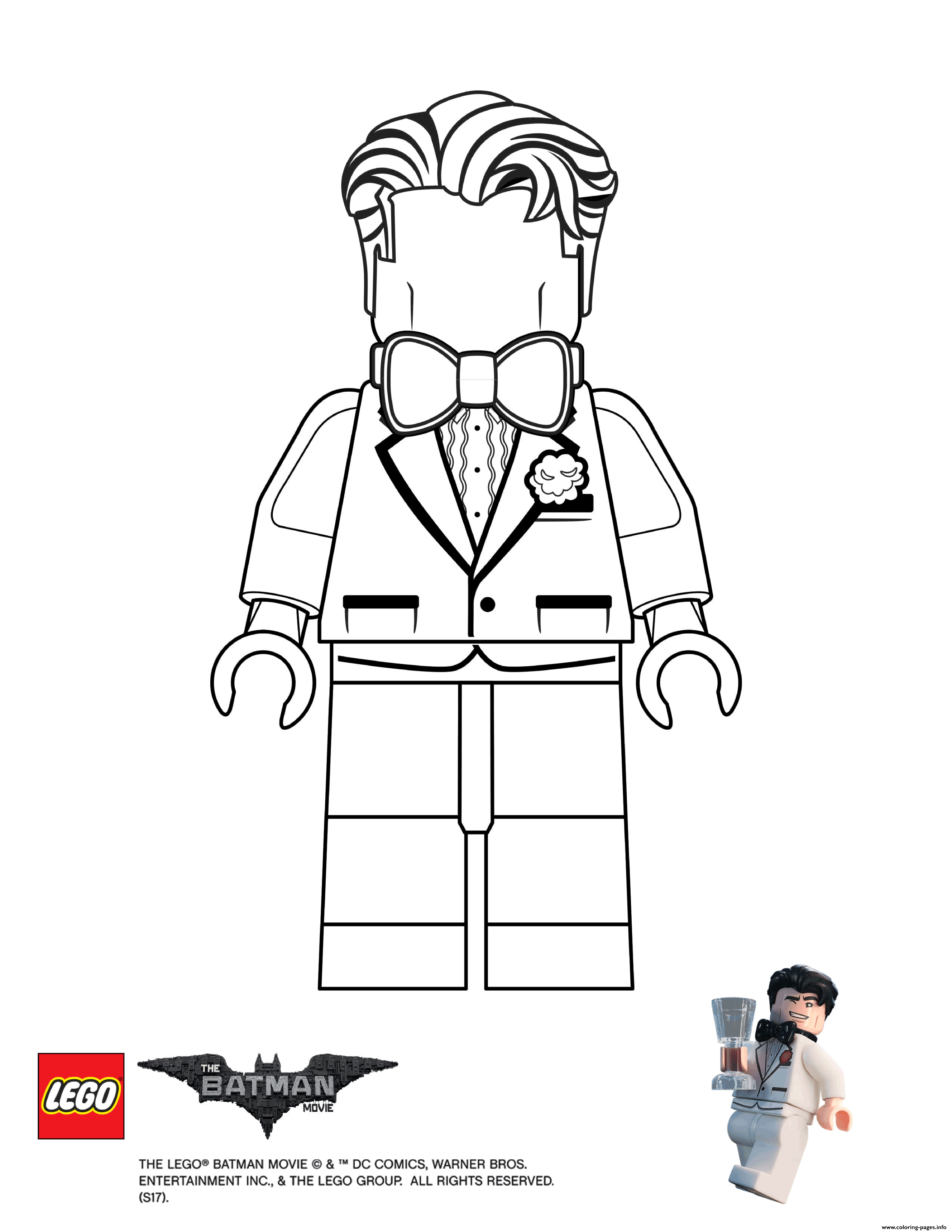 Bruce Lego Batman Movie Coloring Pages Printable