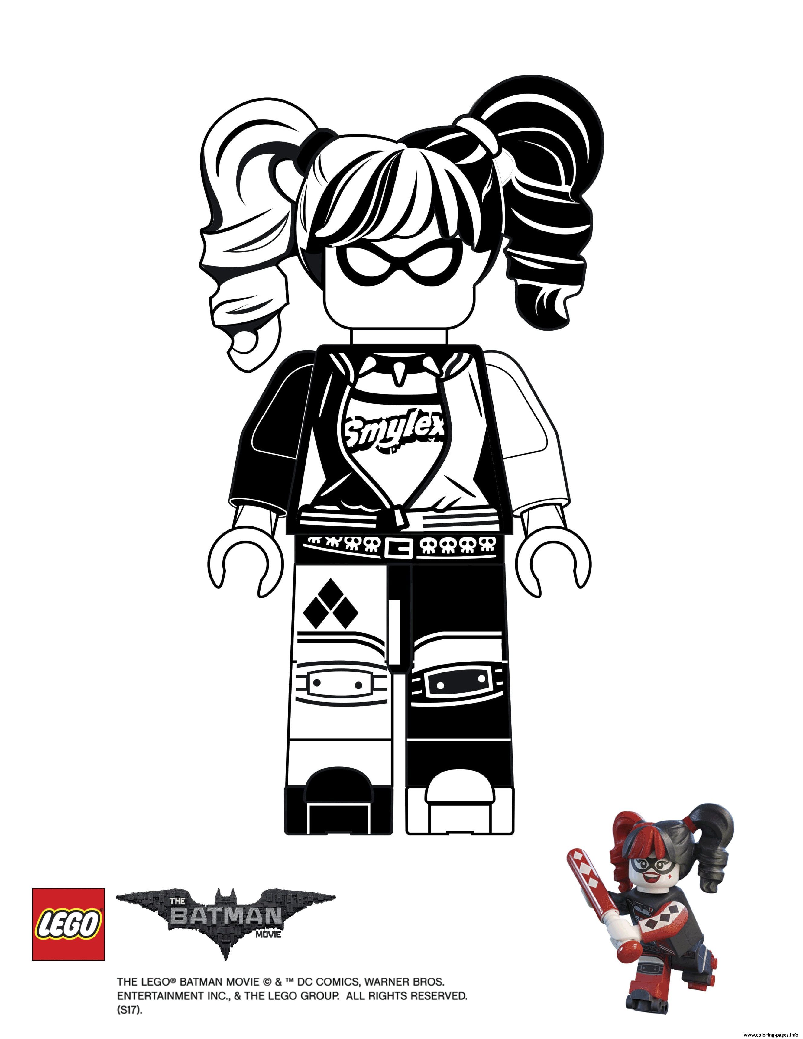 Harley Quinn Batman Lego Movie Coloring Pages Printable