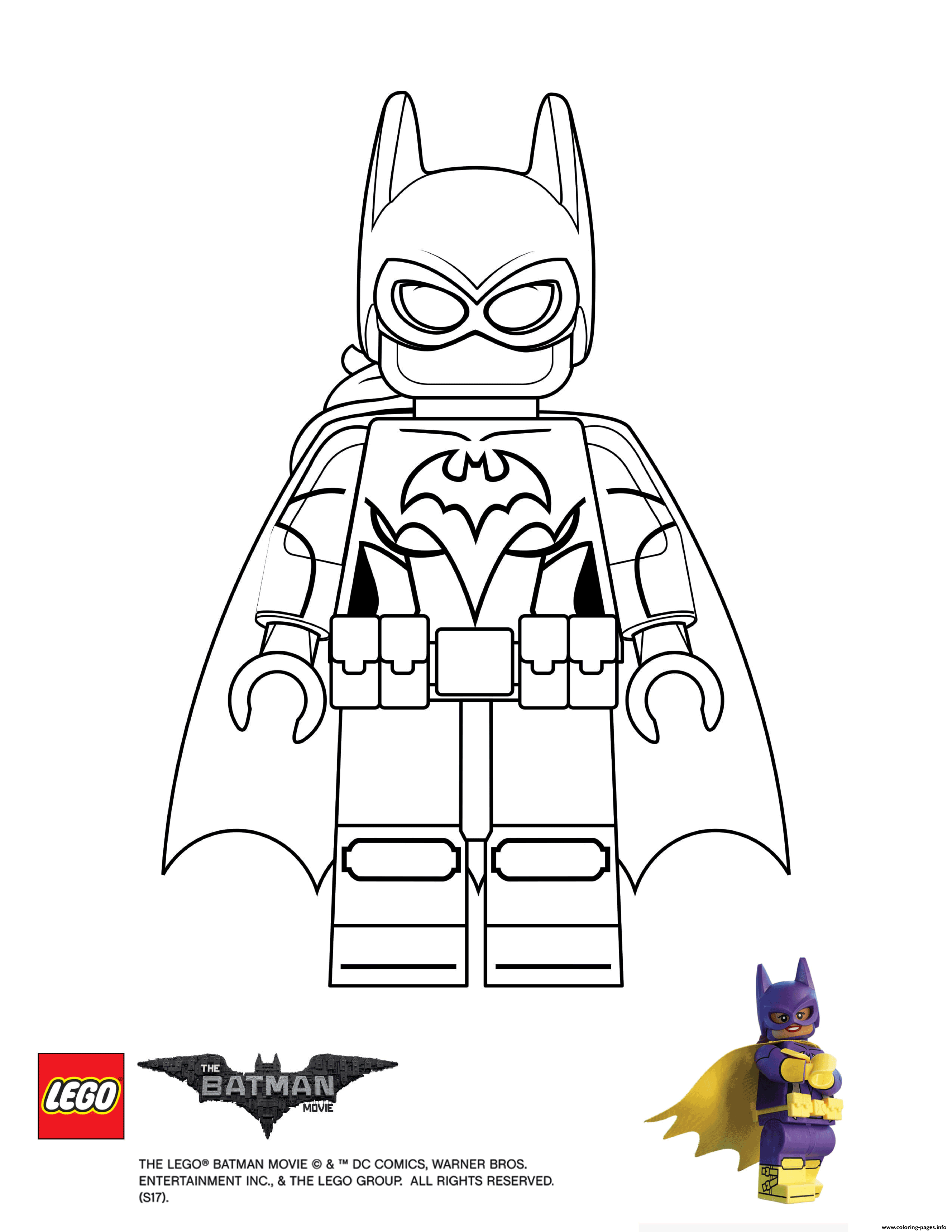 Batgirl lego batman movie coloring pages printable for Batman lego movie coloring pages