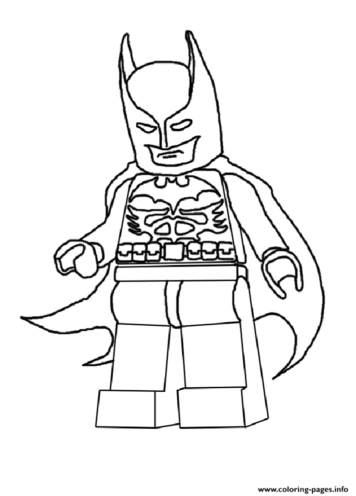 Coloring Pages For Lego Movie : Batman lego movie coloring pages printable