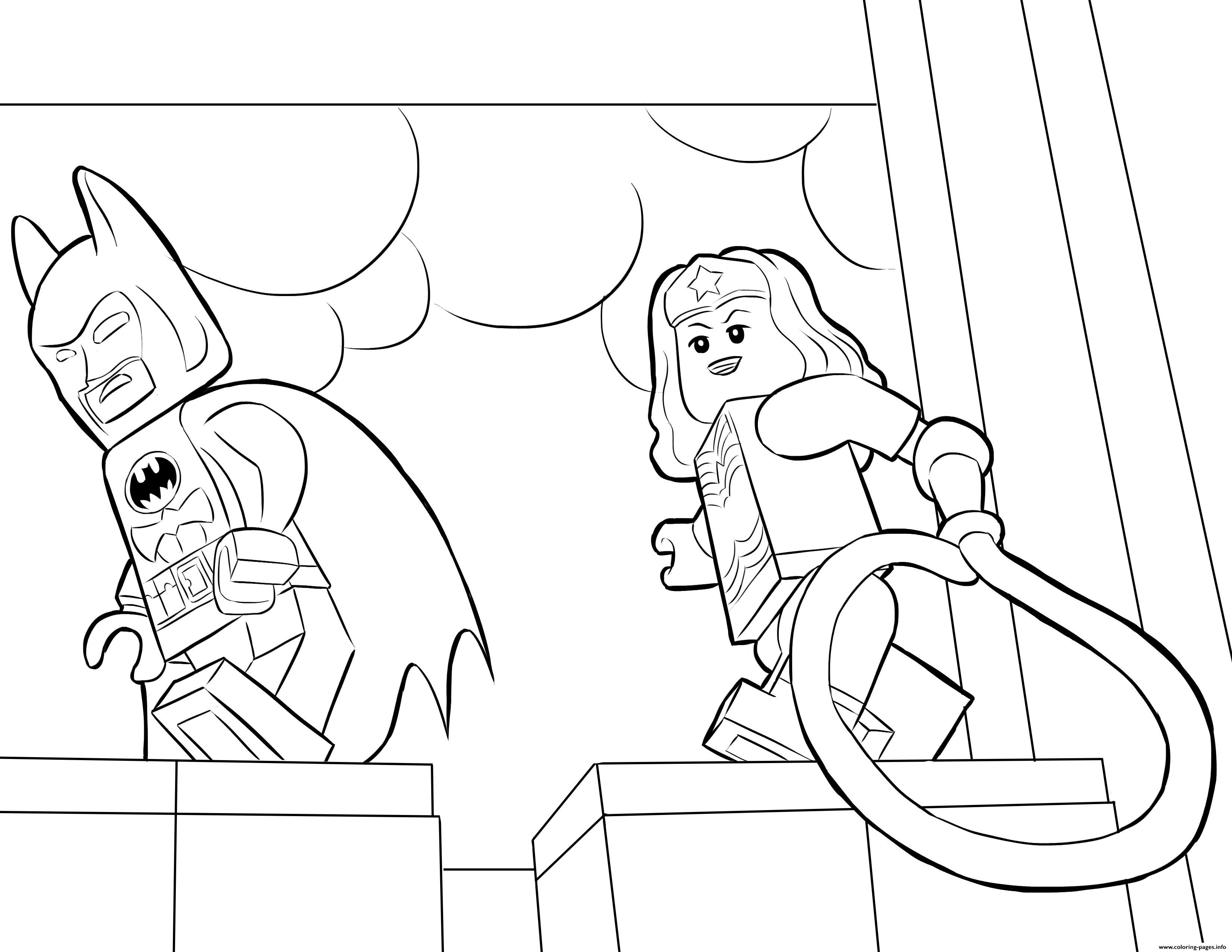 Batman Lego Movie Coloring Pages Printable