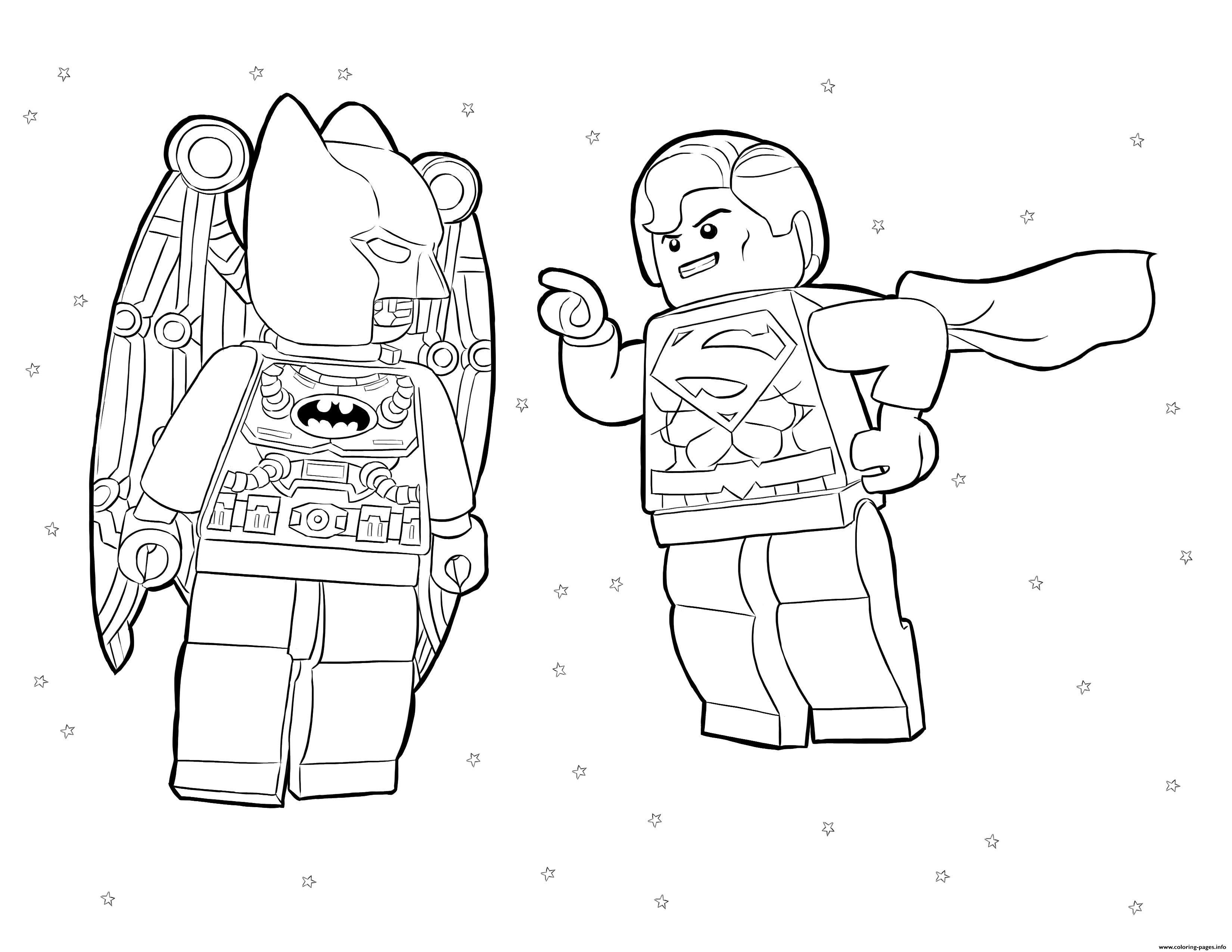 Batman Vs Superman Lego Movie Coloring Pages Printable