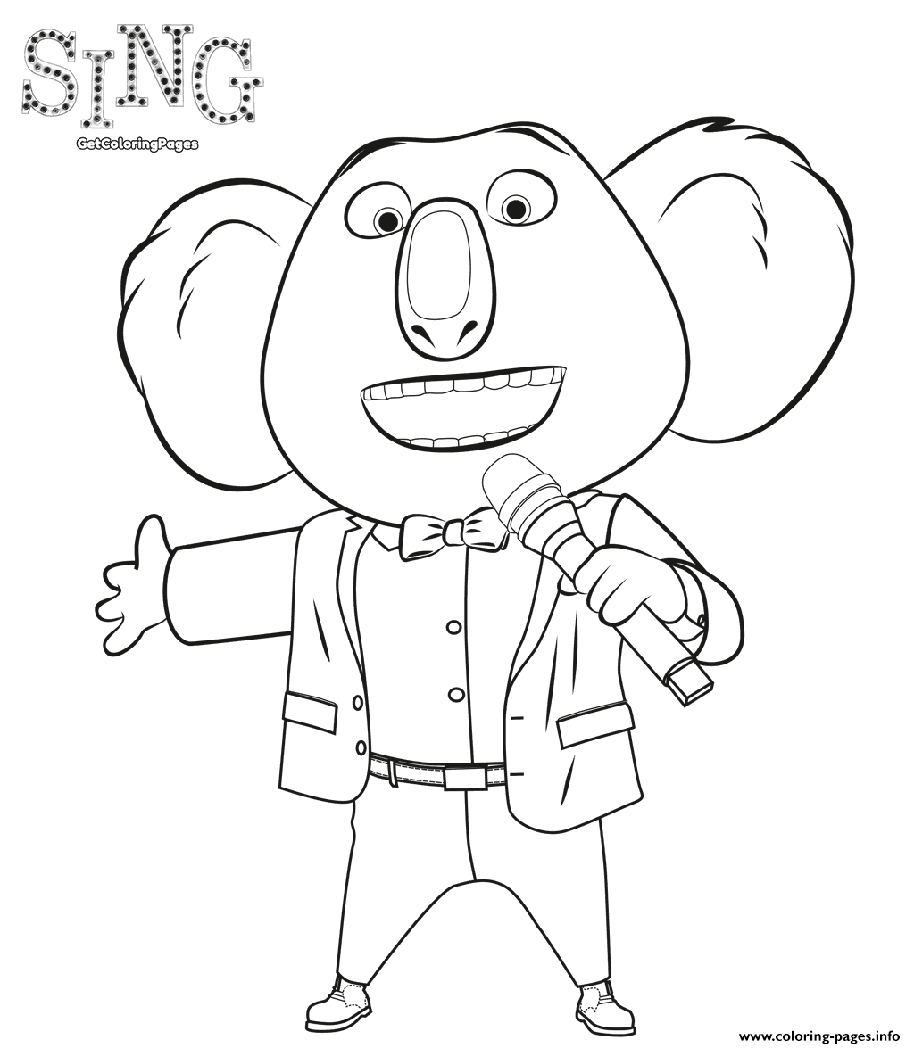 coloring pages of singing - photo#11